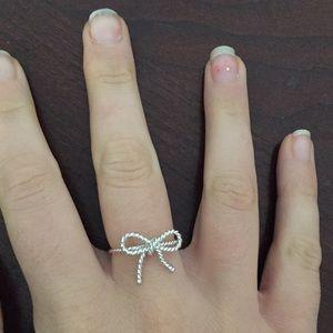 Tiffany Bow Ring size 8
